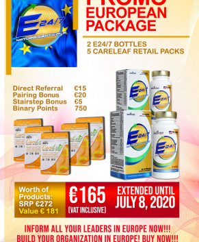 EUROPE PROMO PACKAGE (EXTENDED UNTIL JULY 8, 2020!!!)