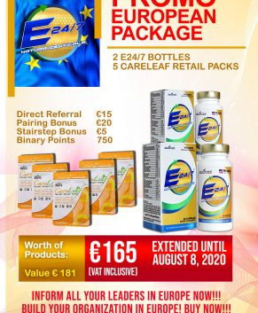 EUROPE PROMO PACKAGE (EXTENDED UNTIL AUGUST 8, 2020!!!)